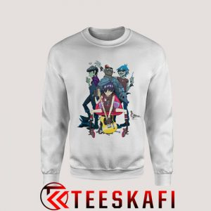 Sweatshirt Gorillaz Alertnative Pop Punk Rock