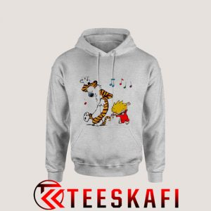Hoodies Calvin And Hobbes Red