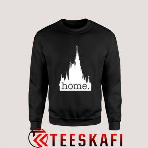 Sweatshirt Disney Castle Home Logo