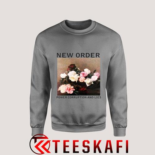 Sweatshirt New Order Power Corruption And Lies