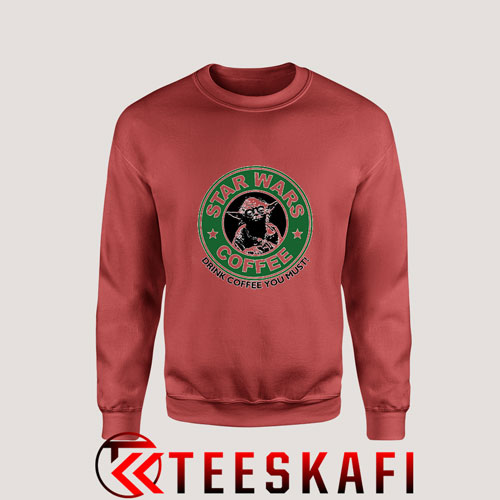 Sweatshirt Star Wars Coffee Yoda Starbucks
