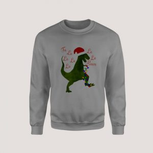Sweatshirt Toddler Dinosaur Christmas
