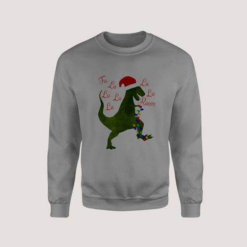 Sweatshirt Toddler Dinosaur Christmas