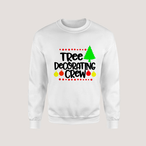 Sweatshirt Tree Decorating Crew Family Christmas