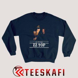Sweatshirt ZZTops Rock Band 50 Years Anniversary Tour Fans