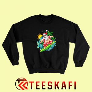 Sweatshirt Santa Surfing