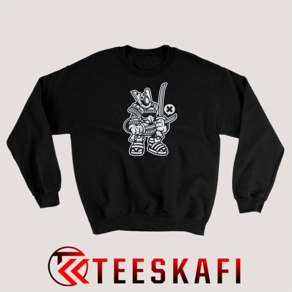 Sweatshirt samurai cartoon
