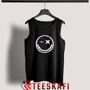 Tank Top Smiley Face Glitch Unisex