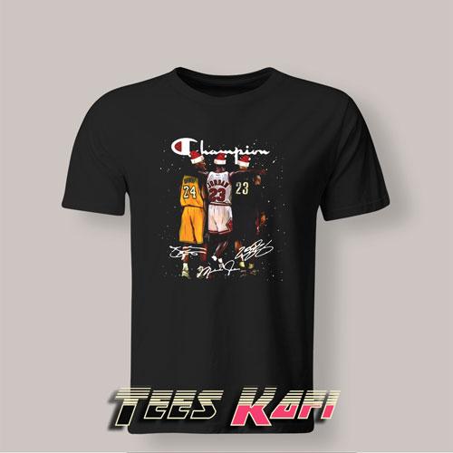 Tshirt Kobe Bryant Michael Jordan and LeBron James Santa Christmas