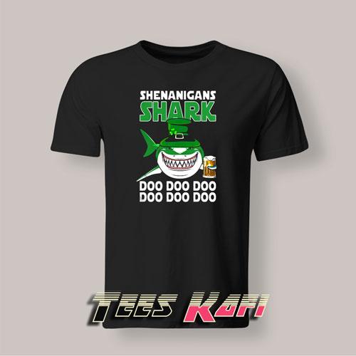 Tshirt Shenanigans Shark Doo Doo Doo Happy Saint Patrick's Day