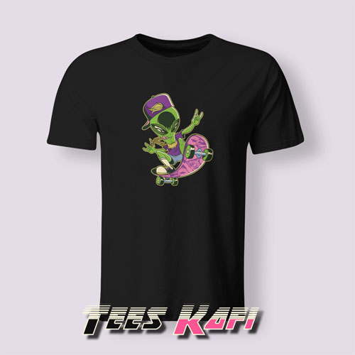 Alien On A Skateboard Tshirts