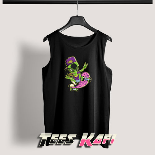 Alien On A Skateboard Tank Top