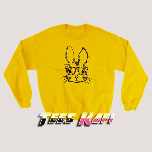 Rabbit With Glasses Sweatshirts