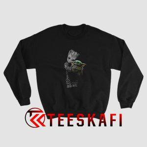 Baby Groot Hug Baby Yoda Sweatshirt The Avengers Size S-3XL