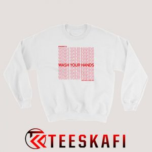 Wash Your Hands Pattern Sweatshirt S-3XL