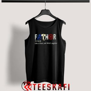 Avengers Fathor Definition Tank Top Father's Day Size S-3XL