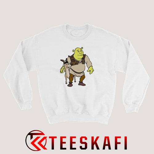 Shrek And Donkey Sweatshirt Shrek Animation Movie S-3XL