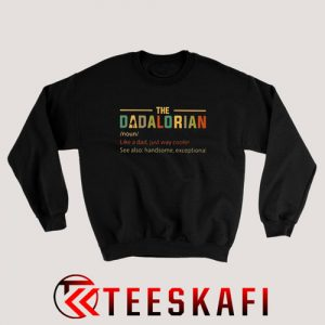 The Dadalorian Vintage Sweatshirt Father's Day Funny S-3XL