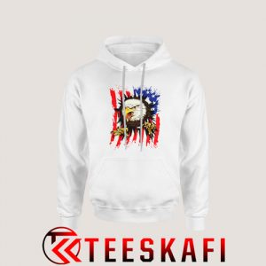 American Flag With Eagle Hoodie Independence Day S-3XL