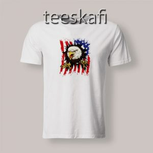 American Flag With Eagle T-Shirt Independence Day S-3XL