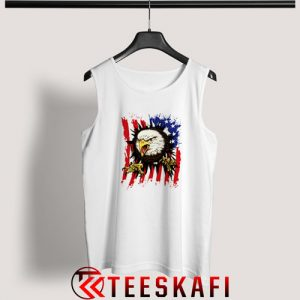 American Flag With Eagle Tank Top Independence Day S-3XL