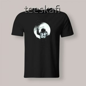 Astronaut Paint The Moon T-Shirt Funny Nasa Space S-3XL