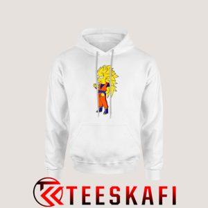 Bart Simpson Goku Super Saiya Hoodie The Simpsons S-3XL