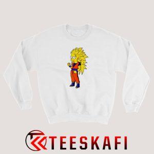 Bart Simpson Goku Super Saiya Sweatshirt The Simpsons S-3XL