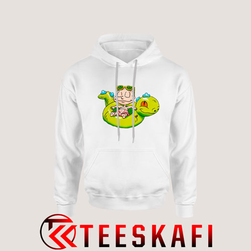 Tommy Pickles Riding Reptar Hoodie Cartoon Rugrats S-3XL