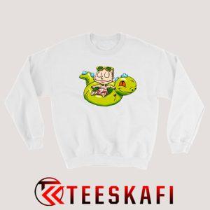 Tommy Pickles Riding Reptar Sweatshirt Cartoon Rugrats S-3XL