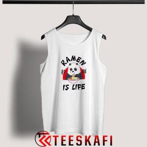 We Bare Bears Ramen Is Life Tank Top Funny Panda S-3XL