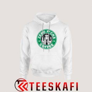 Zero Fucks Starbucks Logo Parody Hoodie Funny Starbucks S-3XL