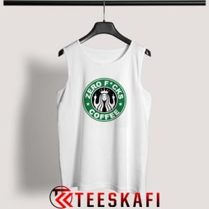 Zero Fucks Starbucks Logo Parody Tank Top Funny Starbucks S-3XL
