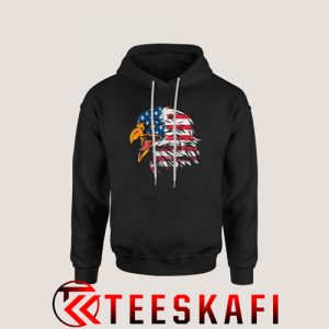 4th July Eagle American Flag Hoodie Patrotic Freedom S-3XL