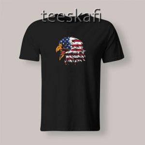 4th July Eagle American Flag T-Shirt Patrotic Freedom S-3XL