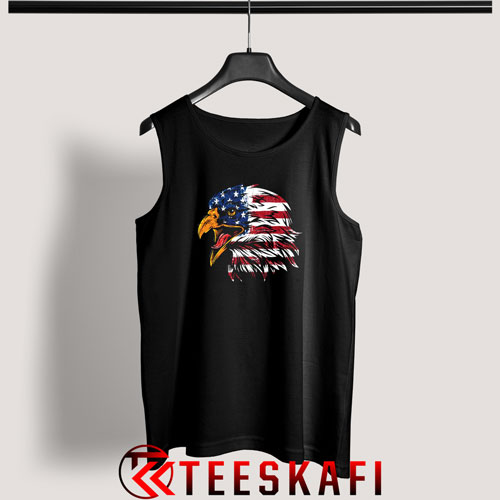 4th July Eagle American Flag Tank Top Patrotic Freedom S-3XL