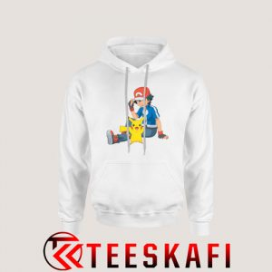 Ash Ketchum And Pikachu Hoodie Cartoon Pokemon S-3XL