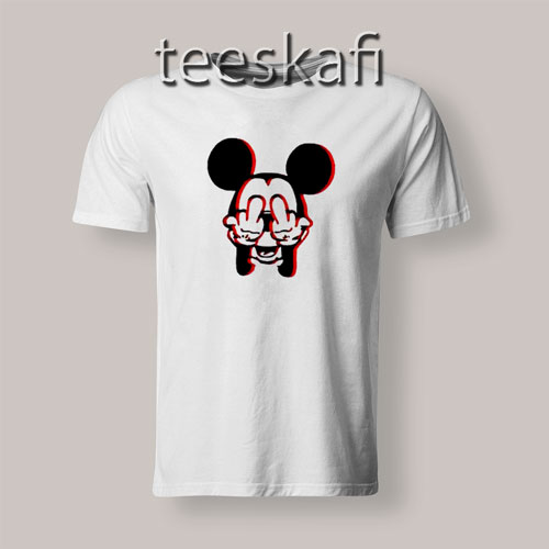 Mickey Mouse Fuck You T-Shirt Funny Mickey S-3XL