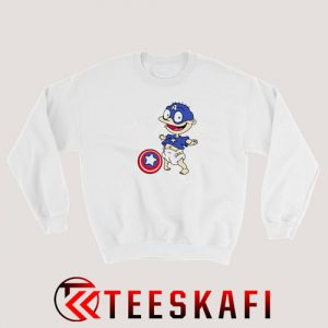 Tommy Pickles Captain America Sweatshirt Funny Rugrats S-3XL