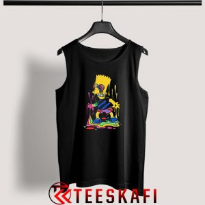 Trippy Bart Simpsons Tank Top The Simpsons S-3XL