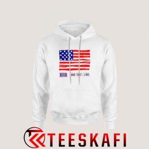USO Land That I Love American Flag Hoodie 4th July S-3XL