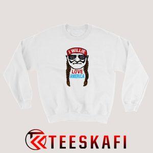 Willie Love America Sweatshirt 4th July Size S-3XL