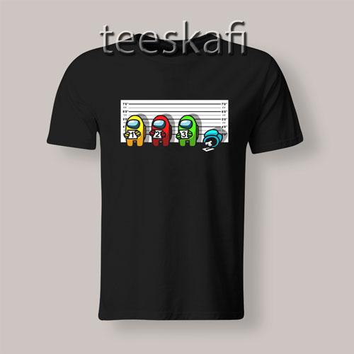 Among Us 1234 Police Mugshot T-Shirt Size S-3XL