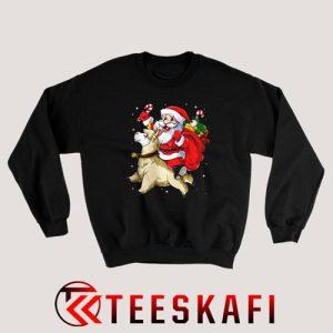 Christmas Santa Llamacorn Llama Sweatshirt Size S 3XL 300x300 - Geek Attire Store