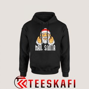 Hail Santa Metal And Rock Devils Horns Hoodie Size S 3XL 300x300 - Geek Attire Store