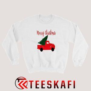 Vintage Truck Christmas Tree Sweatshirt Size S-3XL