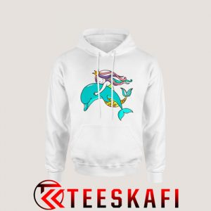 Mermaid and Dolphin Hoodie Size S-3XL