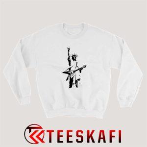 Statue of Liberty Rock V Guitar Sweatshirt Size S 3XL 300x300 - Geek Attire Store