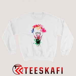 Watercolor Light Bulb Sweatshirt Size S-3XL